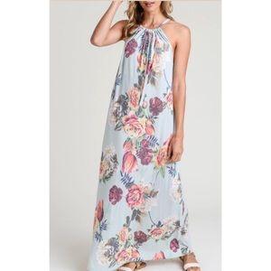 Blooming Halter Maxi Dress